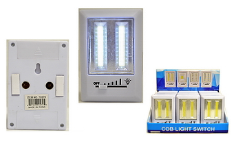 COB Light Switch with Dimmer, 12 pc display box