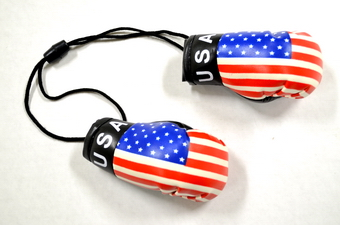 USA Flag Boxing Glove, 6 pairs per bag