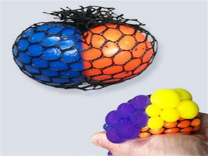 Two Tone Squeeze Mesh Ball 2.5