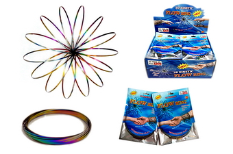 Rainbow Color Flow Ring - 1pc/bag, 24pc/display box