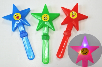LIGHT UP CLAPPING STAR STICK