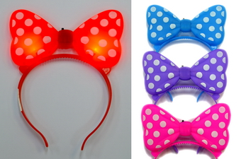 LIGHT UP BOWTIE HEADBAND