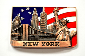 NYC Skyline Magnet - Square Shape
