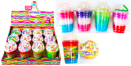 Multi Color Slime in a Cup - 12 pc display box
