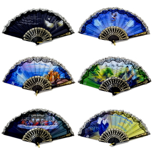 ASSORTED RELIGIOUS FOLDING FAN