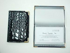 BLACK COLOR ALLIGATOR SKIN ID HOLDER
