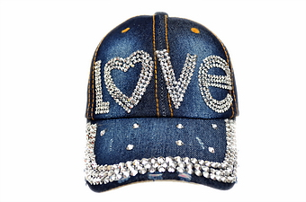 BLING BLING LOVE DENIM CAP