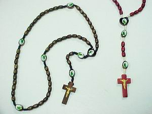 ASSORTED COLOR WOODEN ROSARY