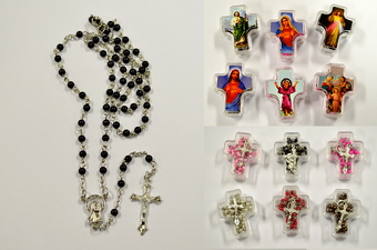 ROSARY IN CROSS SHAPE BOX