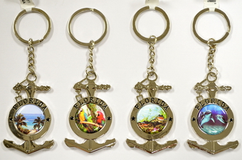 ANCHOR SHAPE FLORIDA PICTURE KEY CHAIN