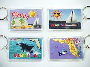ASSORTED FLORIDA PICTURE KEY CHAIN