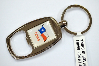 Texas Flag Bottle Opener Key Chain
