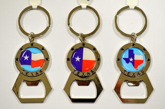 TEXAS FLAG CAP OPENER KEY CHAIN