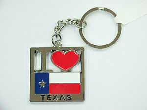 I LOVE TEXAS KEYCHAIN