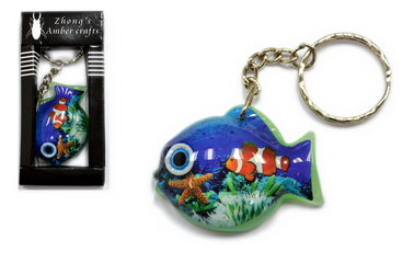 LUCITE FISH KEY CHAIN