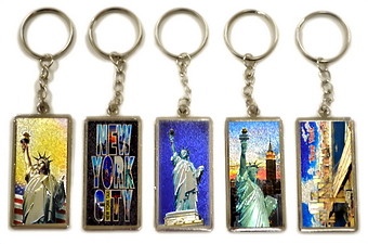 NYC Laser Picture Key Chain