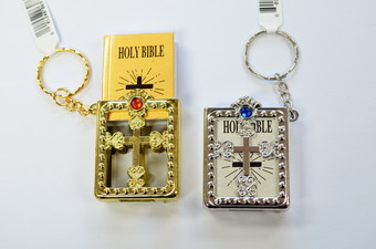 BIBLE IN CASE  KEYCHAIN