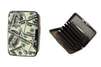 Money Print Card Holder - 12 pc display box