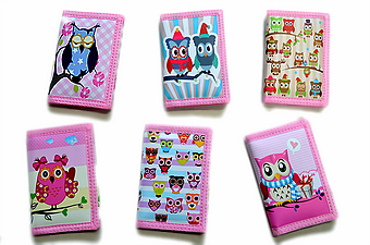 OWL PRINT TRIFOLD WALLET