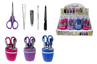 Assorted Manicure Set In Container, 12 sets in display box
