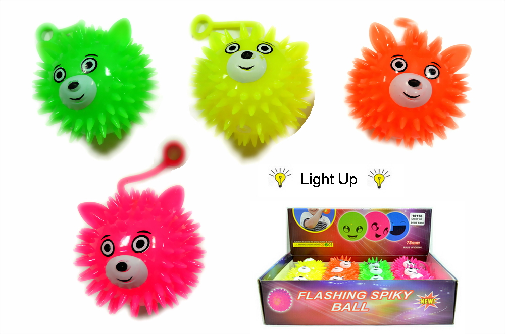 LIGHT UP BEAR FACE YOYO BALL, 1 DZ DISPLAY BOX
