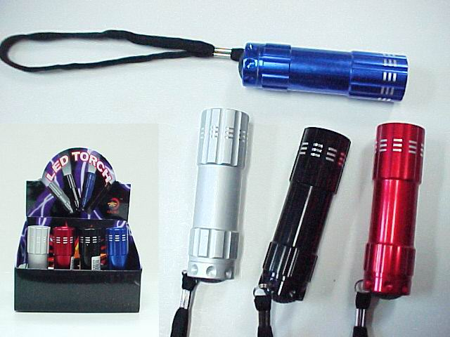 9 LED Flashlight - 1 dz display box