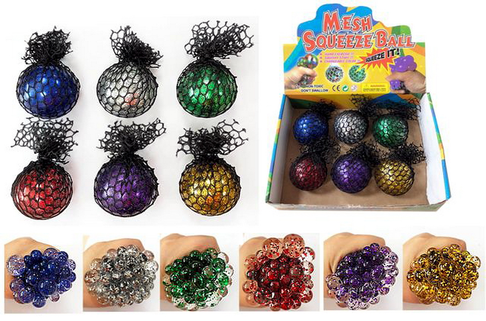 Mesh Squeeze Ball, 1 dz display box