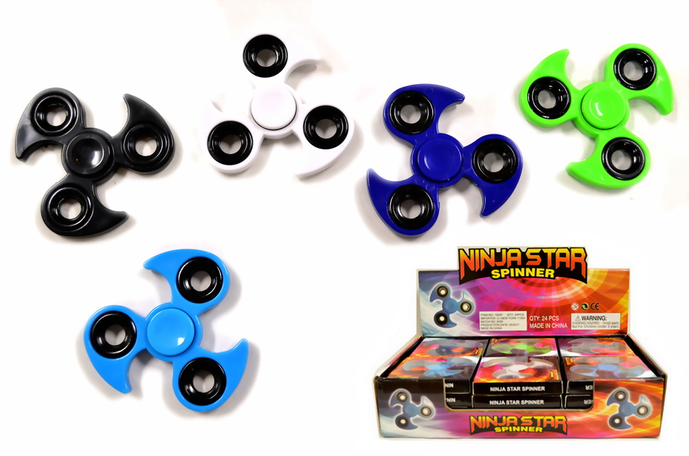 NINJA STAR SHAPE SPINNER, 24 PC/DISPLAY BOX