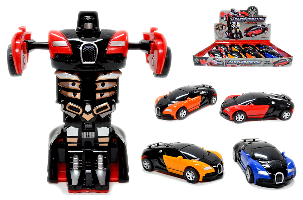 ROBOT CAR, 8 PC DISPLAY BOX