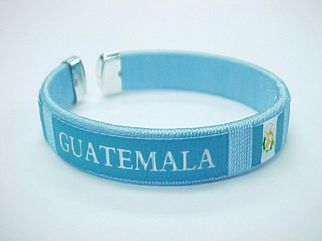 GUATEMALA FLAG BANGLE, 1DZ/CAN