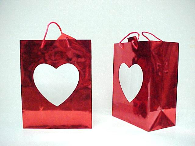RED LASER HEART BAG - MEDIUM