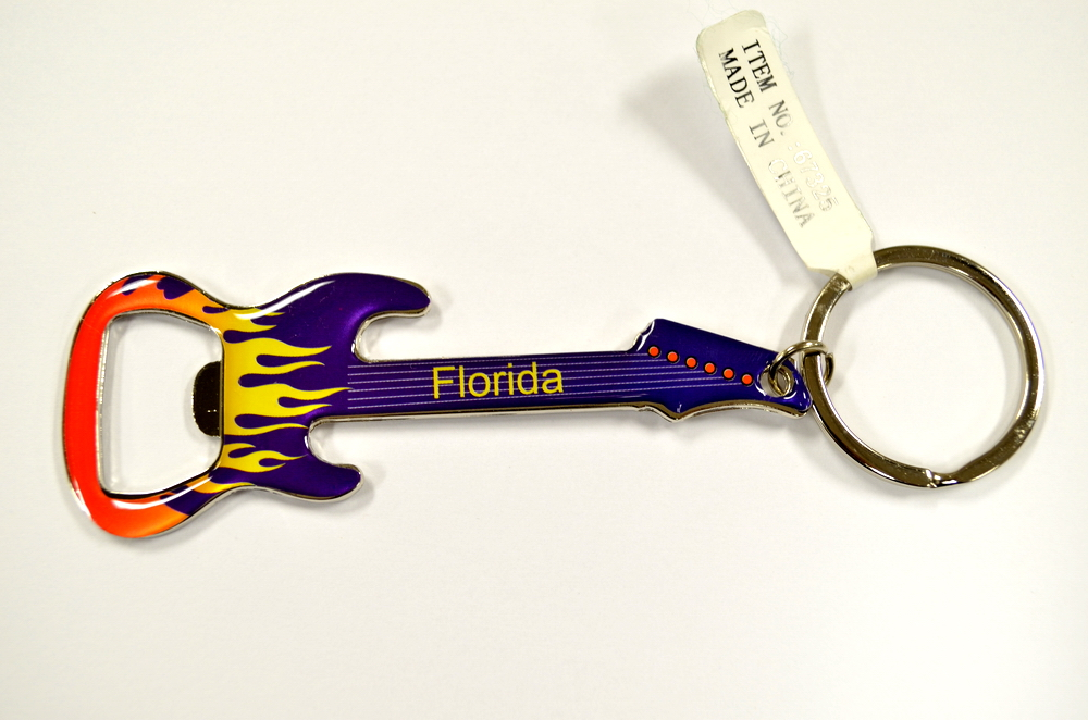 Florida Guitar Key Chain