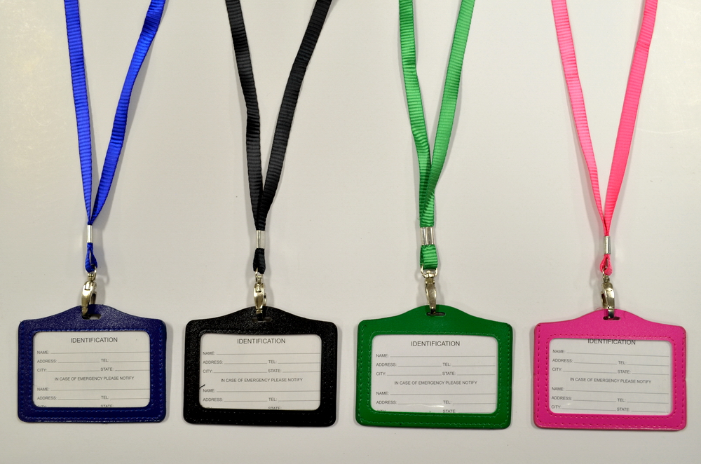 Assorted Color Horizontal ID Pouch Lanyard