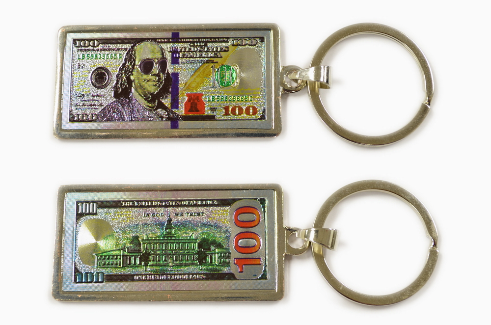 $100 Money Key Chain President w/ Sunglasses
