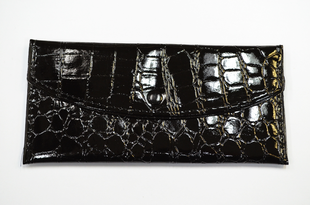 LADY ALLIGATOR SKIN WALLET- BLACK